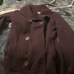 Perfect condition plum north face peacoat